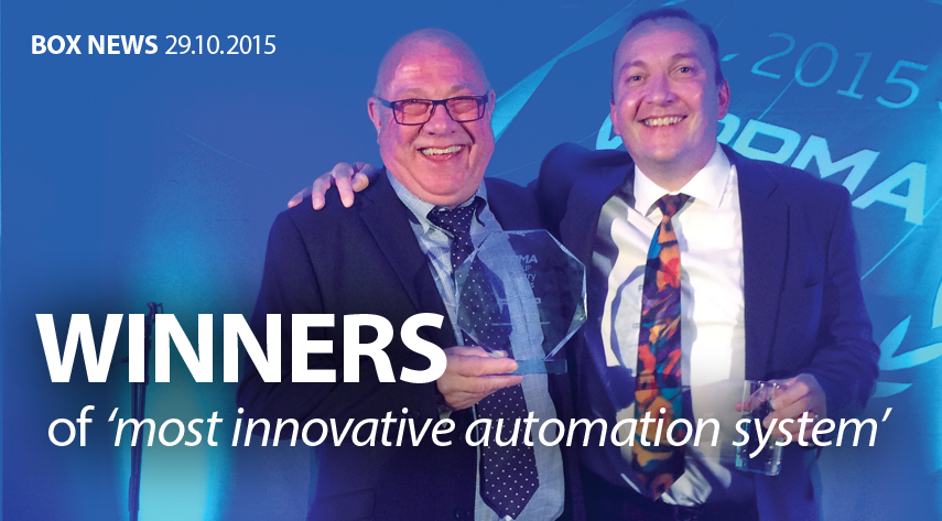 PPMA 2015 Award Winners Most innovative Automation System image
