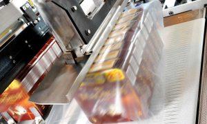 Linkx Matrix frozen carton collator shrink wrapper image of ice cream production