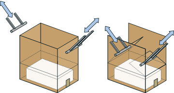 5. BoxSizer folds and closes box reducing empty void and box height