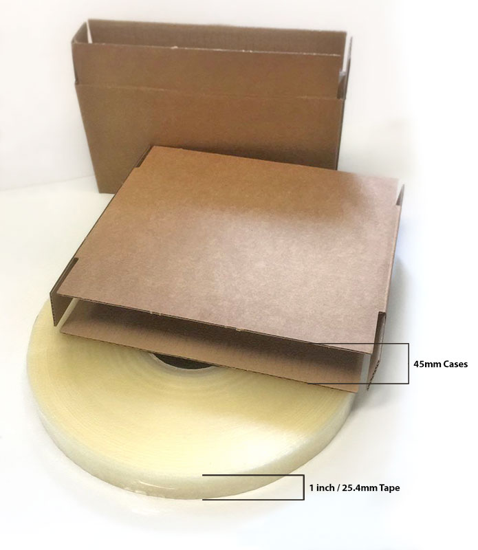 Extra small case erector for small boxes 1inch tape