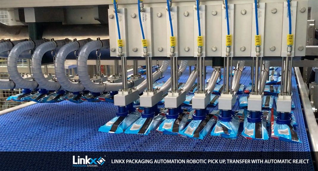 Linkx Packaging Automation for Unilever, Robotic pick up, transfer with automatic reject image