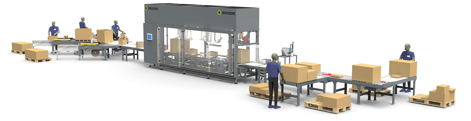 Boxsizer e-commerce smart packaging Packing Line